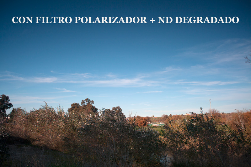 Fotografía con filtro polarizador + ND degradado