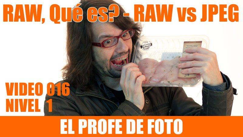 Curso de fotografía – formato RAW – Qué es? – RAW vs JPEG